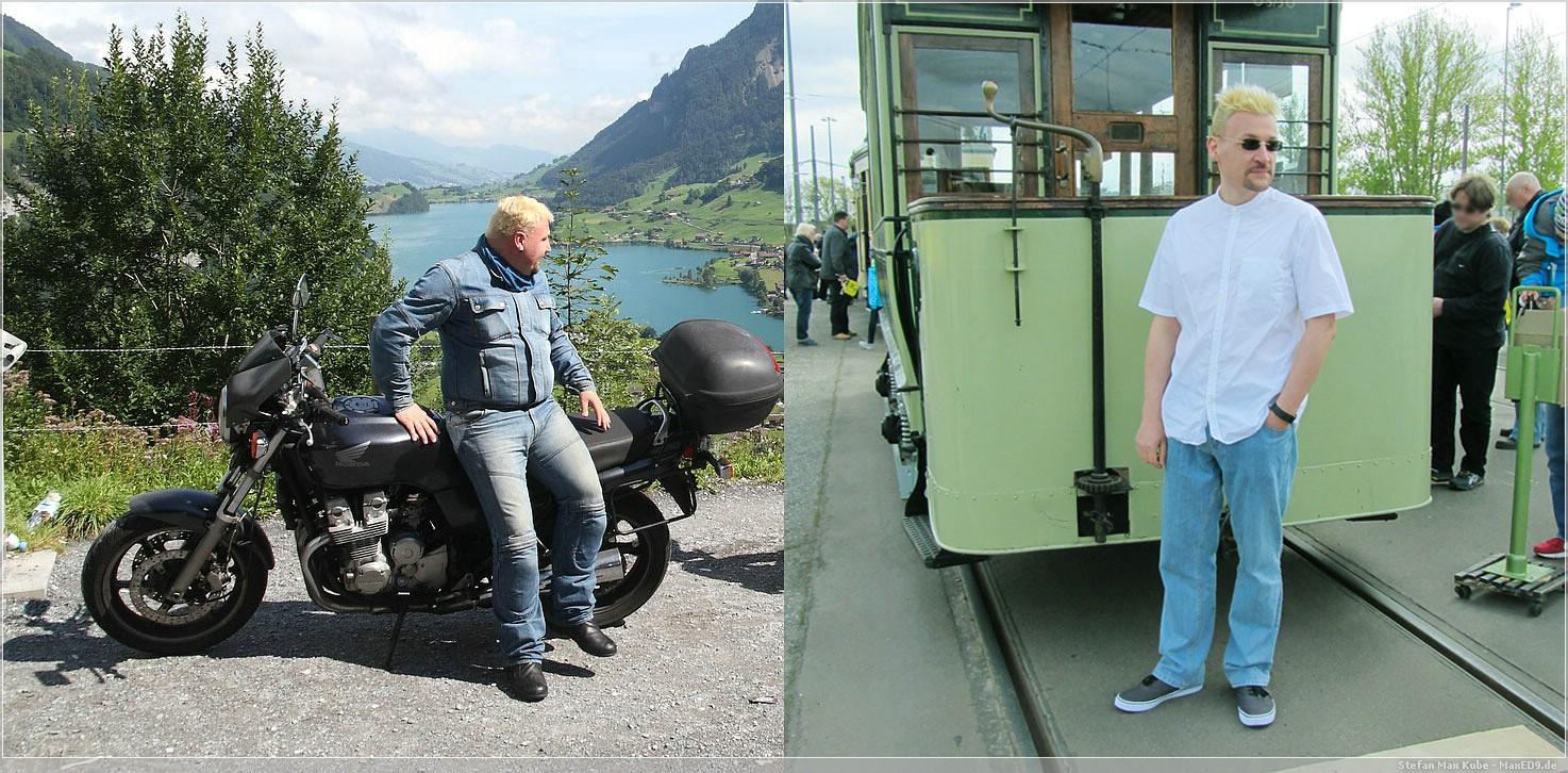 Vergleich 30kg weniger: vorher (links) - nachher (rechts)