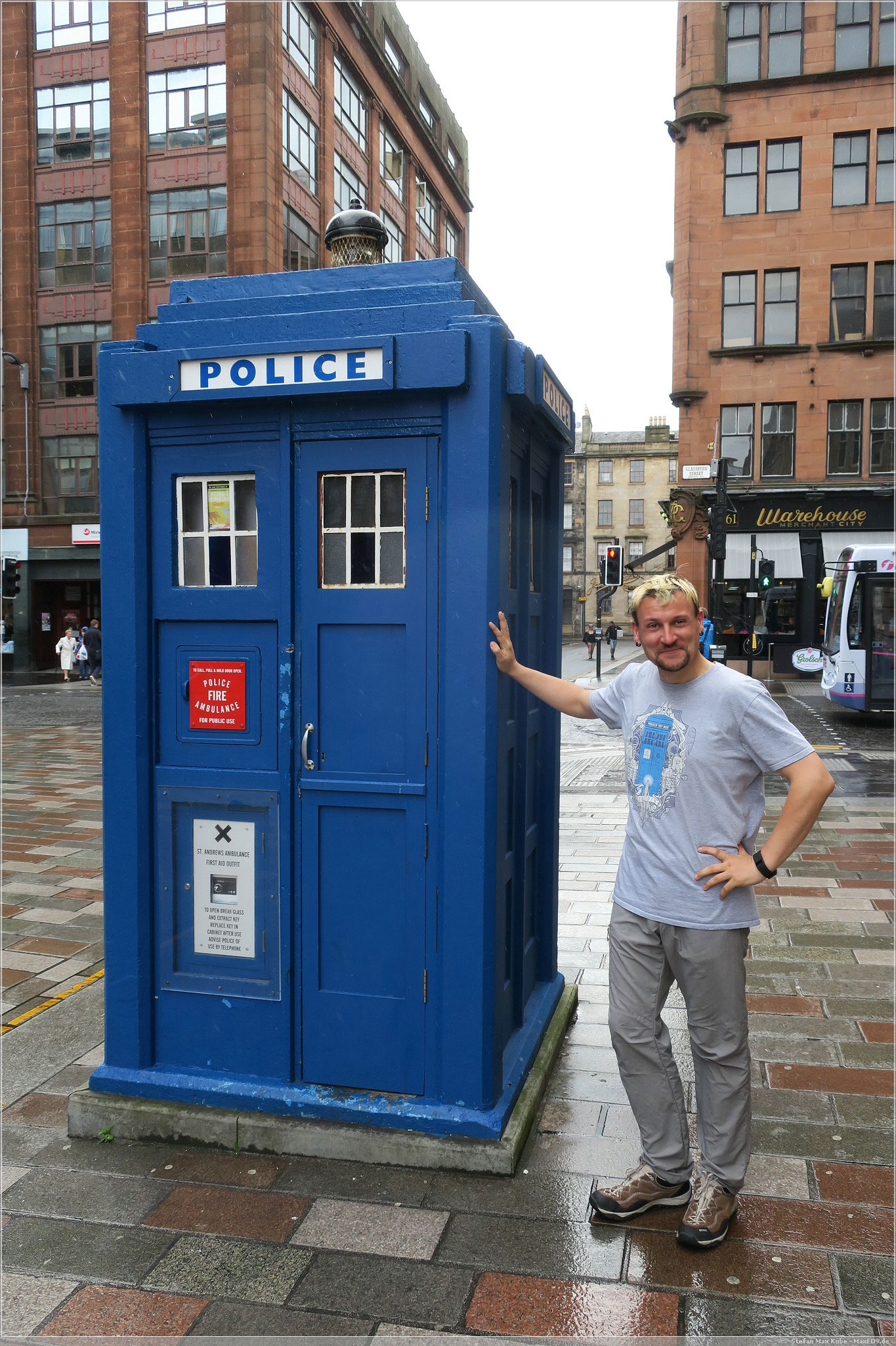 die TARDIS in Glasgow