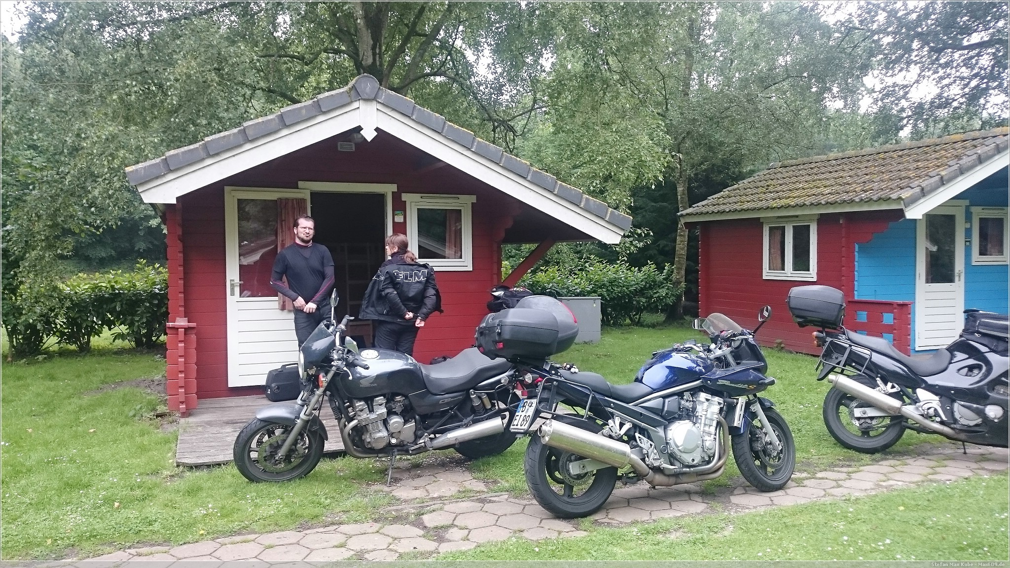 Hütte auf dem Campingplatz in Amsterdam