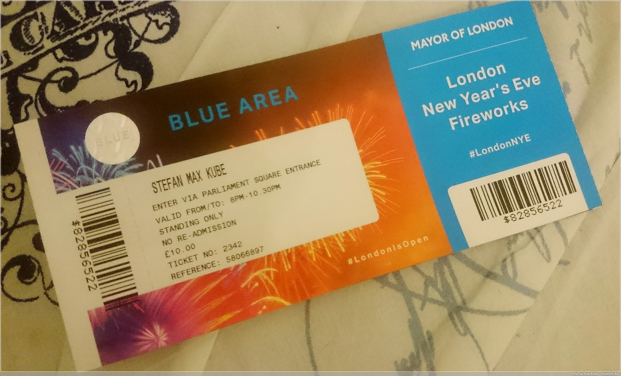 Ticket London Feuerwerk