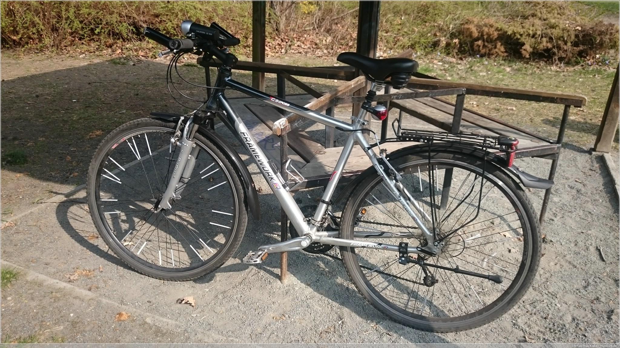 absolviert: erste Fahrradrunde seit dem Unfall