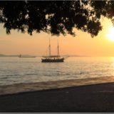 Sonnenuntergang an der Strandpromenade in Zadar