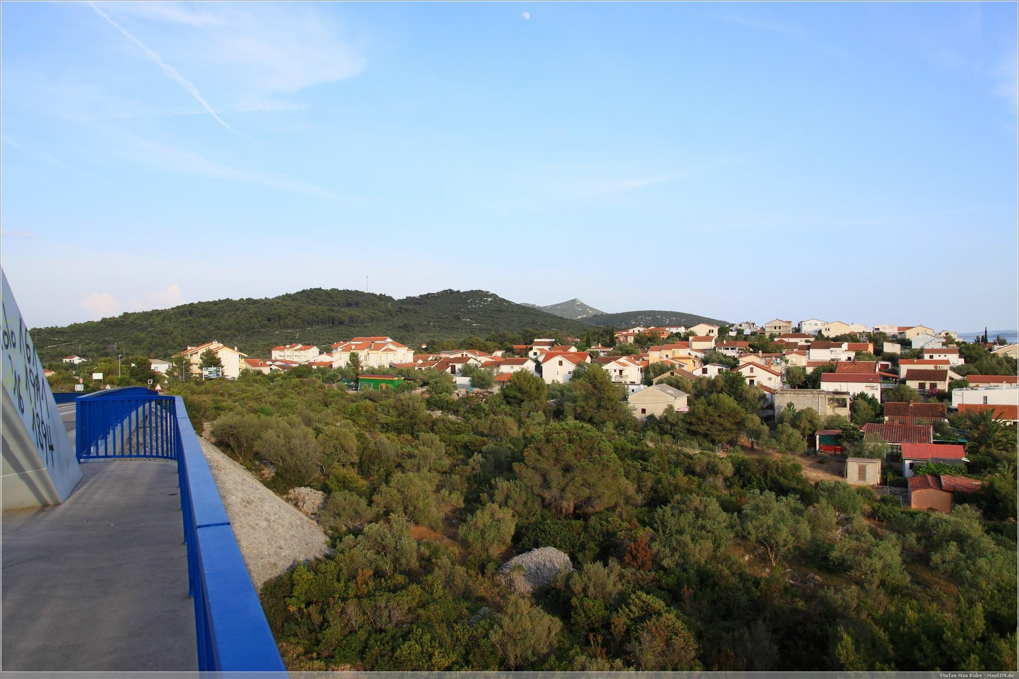 Blick von der Zdrelac Brücke