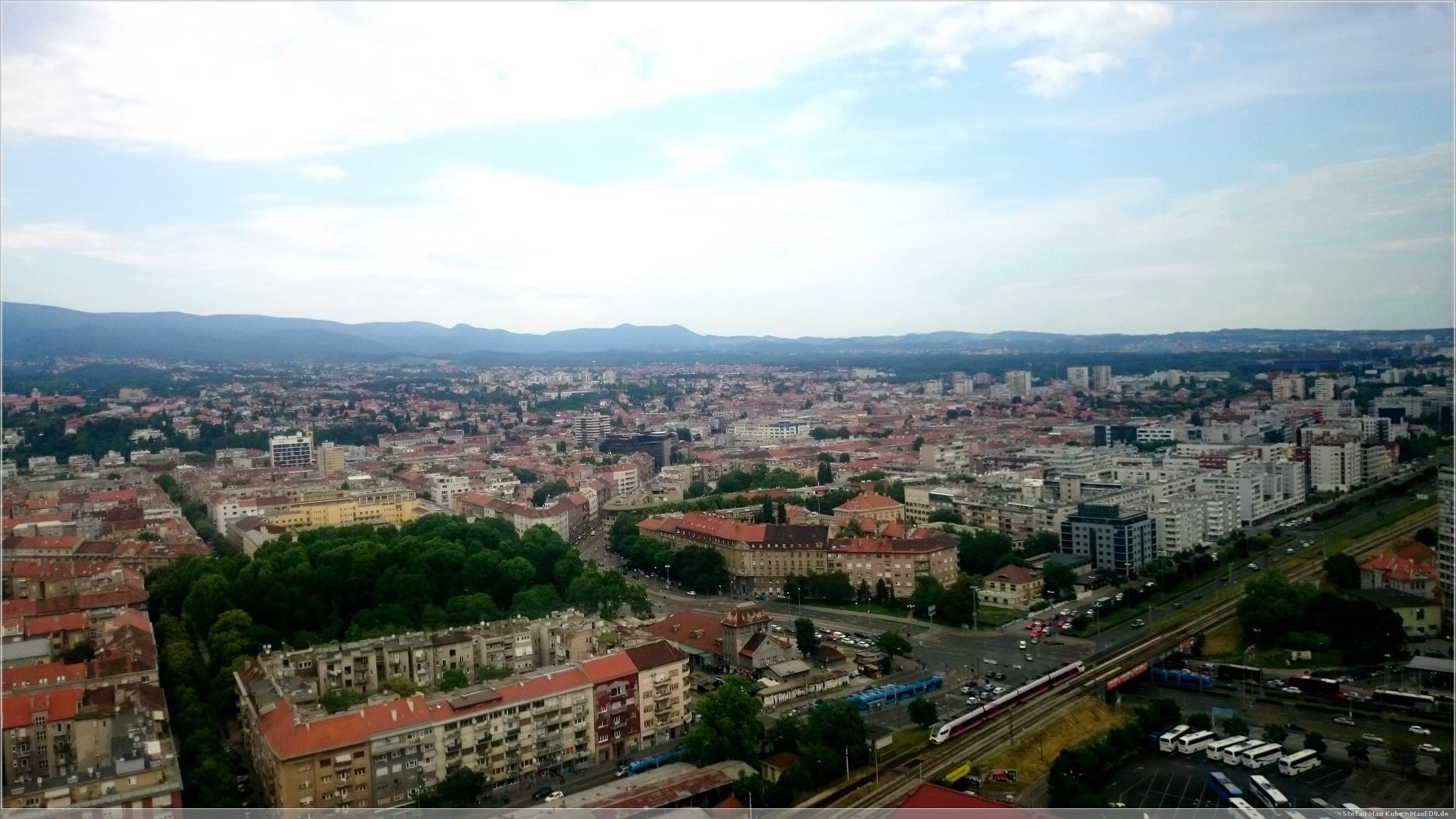 Blick über Zagreb aus der 25. Etage