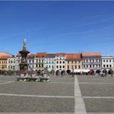 Marktplatz mit Samsonbrunnen und Schwarzer Turm, Budweis