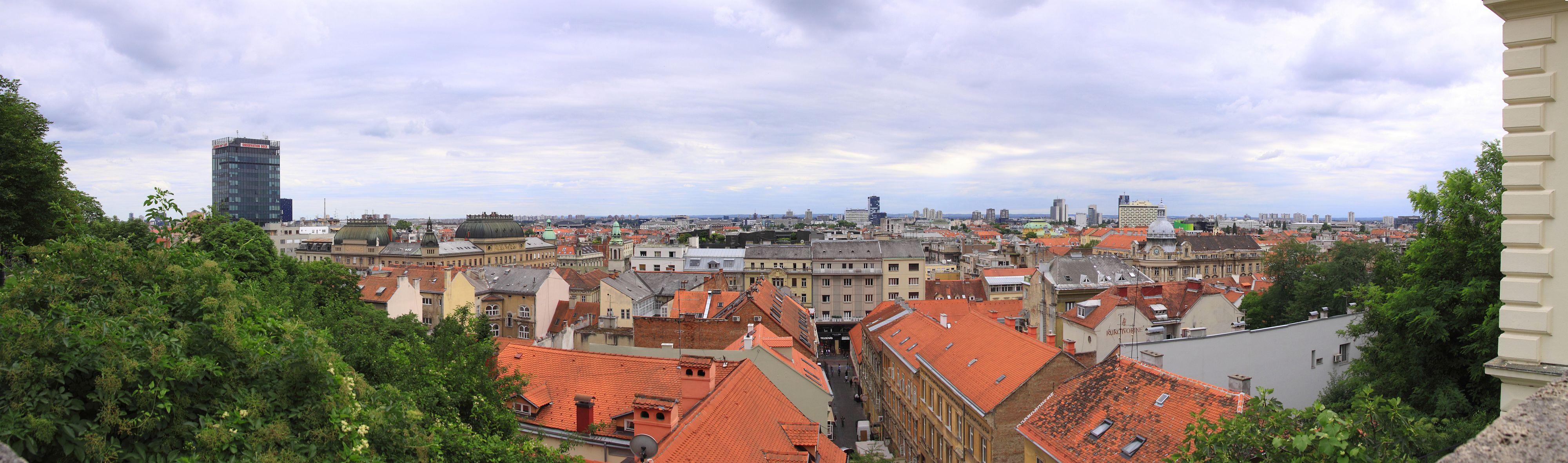Blick von der Altstadt über Zagreb
