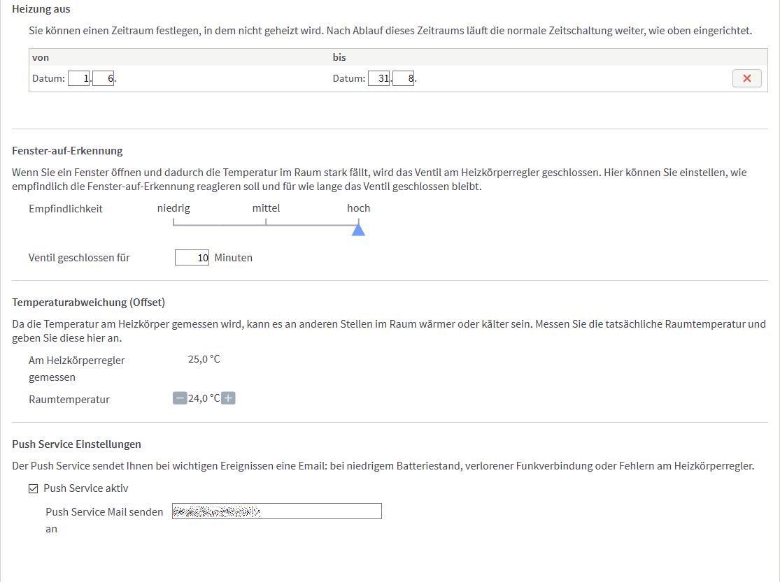 geregelt: Eurotronic Comet DECT Heizkörperthermostat an Fritz!Box