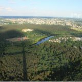 Blick vom Fernsehturm auf Vilnius