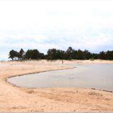 Blick zum Strand am Kap Kolka