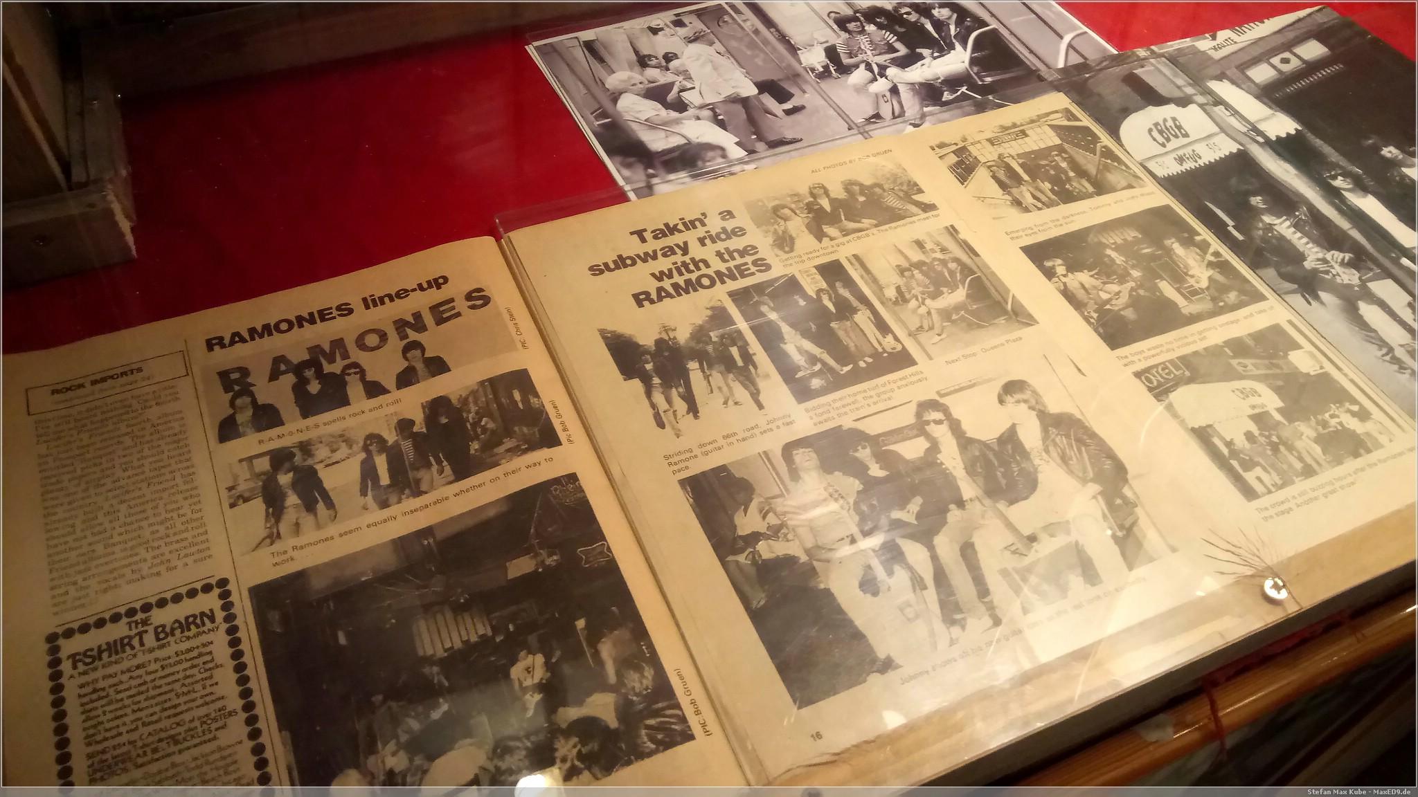 besucht: Ramones Museum
