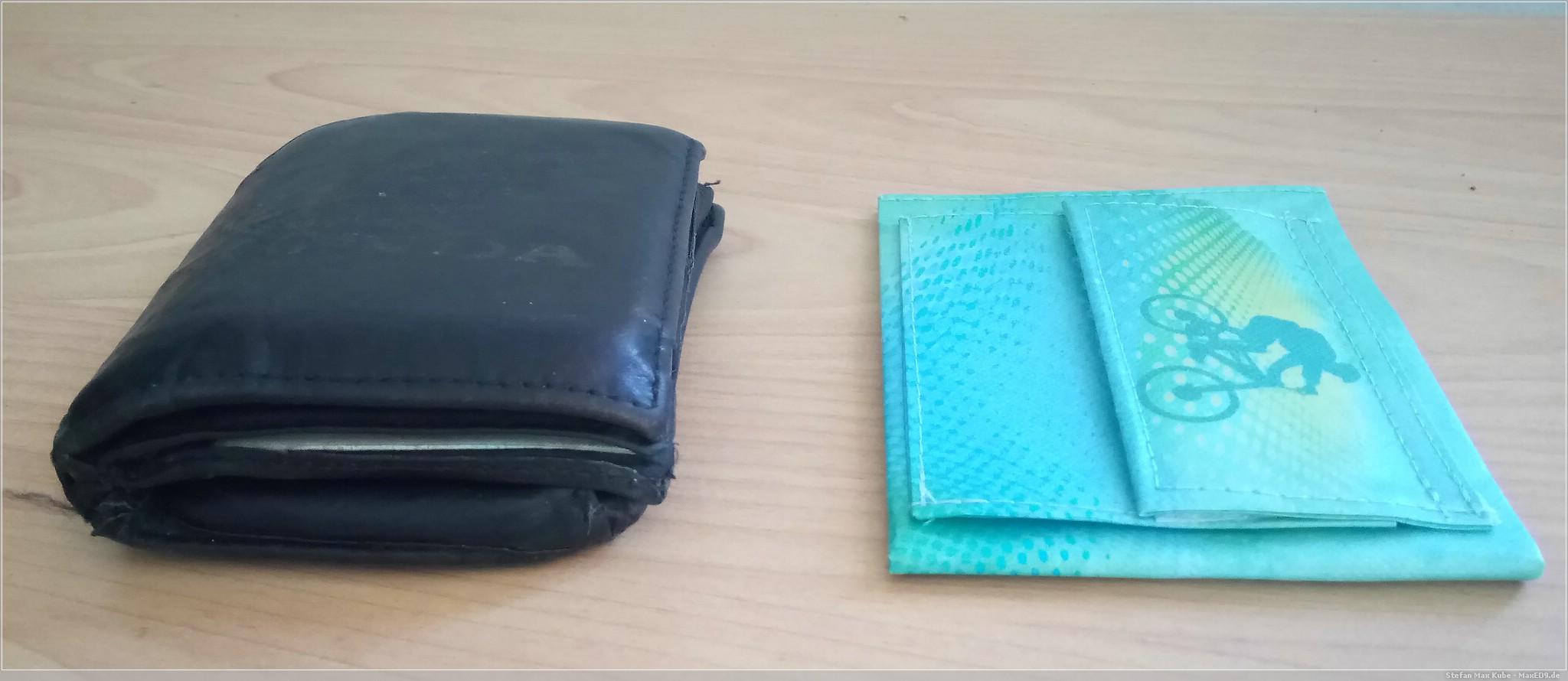 verkleinert: das ultraflache Spocket-Portemonnaie