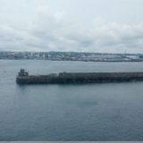 Cherbourg Hafen in Sicht