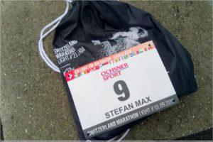 Startnummer und Goodie-Bag