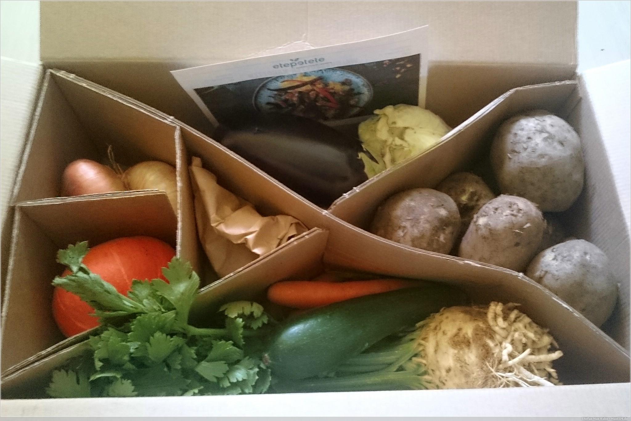 geliefert: Bio-Gemüse von etepetete