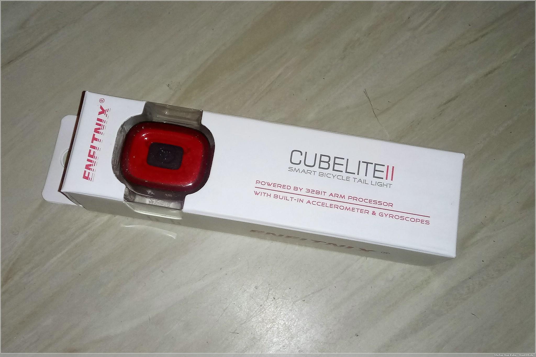 beleuchtet: CubeLite II Pro Fahrradrücklicht