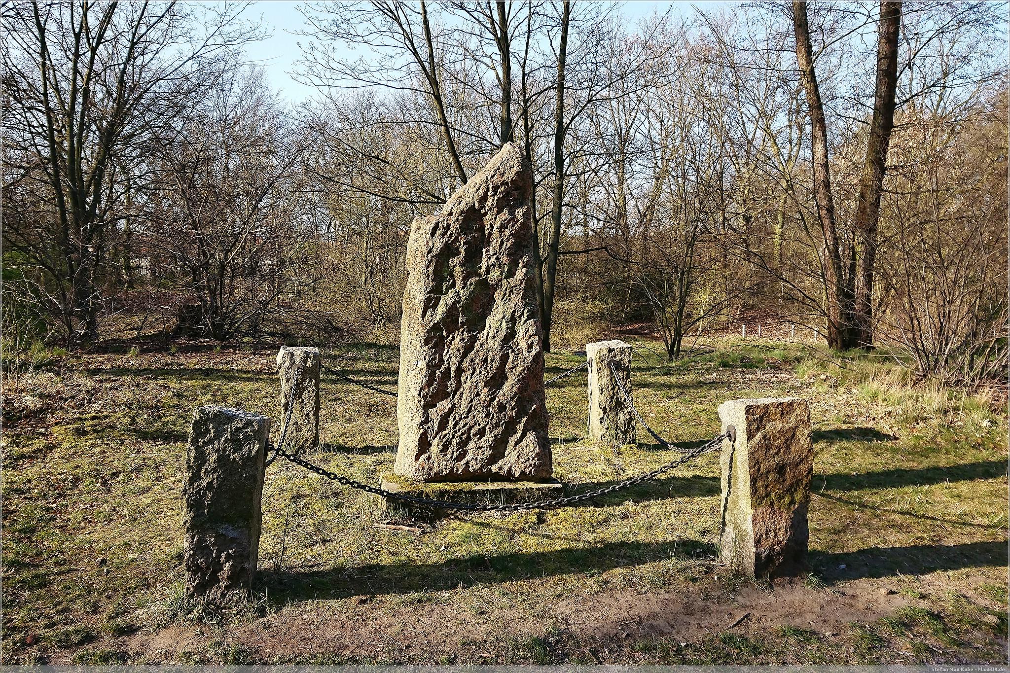 Gedenkstein dem Königlichen Forstmeister Oberförster Albert Krieger(Rückseite)