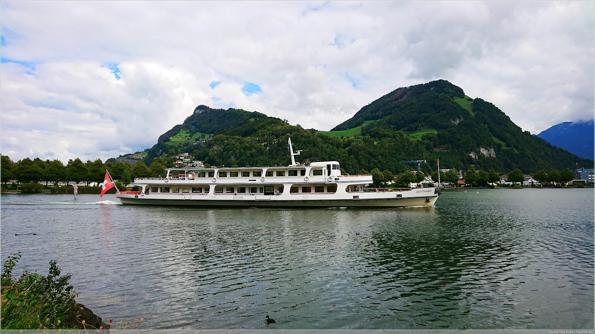 Das Schiff Gotthard auf dem Vierwaldstättersee