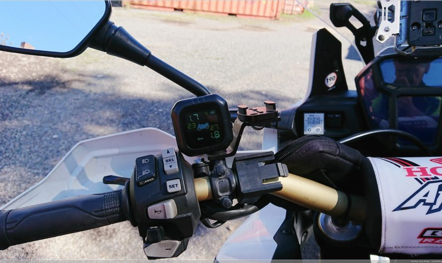 nachgerüstet: Reifendruckkontrollsystem am Mopped