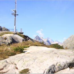 Aussichtsplattform über dem Grimselhospiz