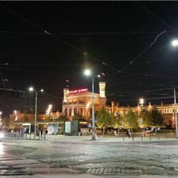 Hauptbahnhof Breslau am Abend