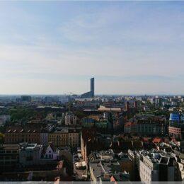 Blick zum Sky Tower