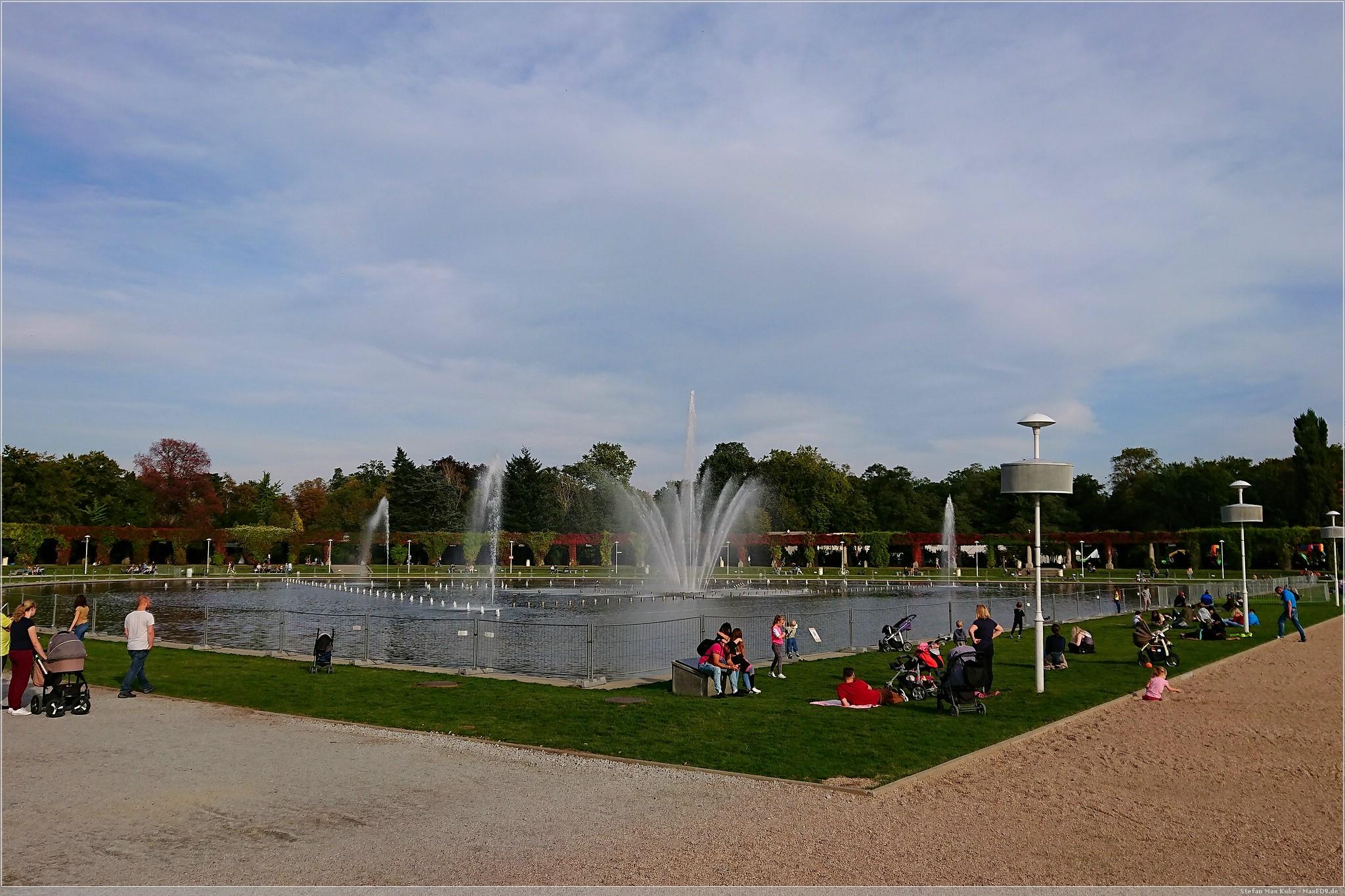 Multimedialer Springbrunnen