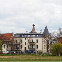 Strausberger Torturm mit Storchennest, Altlandsberg