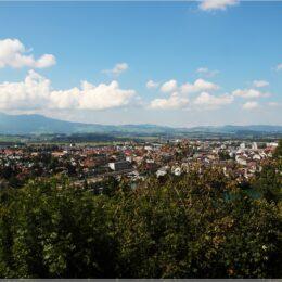 Blick über Thun vom Jakobshübeli