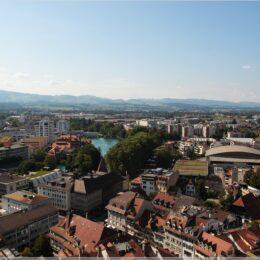 Blick über Thun von einem Schlossturm